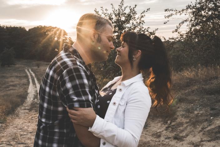 Pärchenshooting Wedding Engagement Shooting Sonnenuntergang Fotoshooting