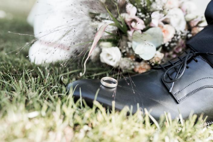Hochzeitsring Hochzeitsschuh Strauß